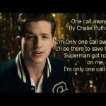 Charlie Puth one call away lyrics and mp3 download