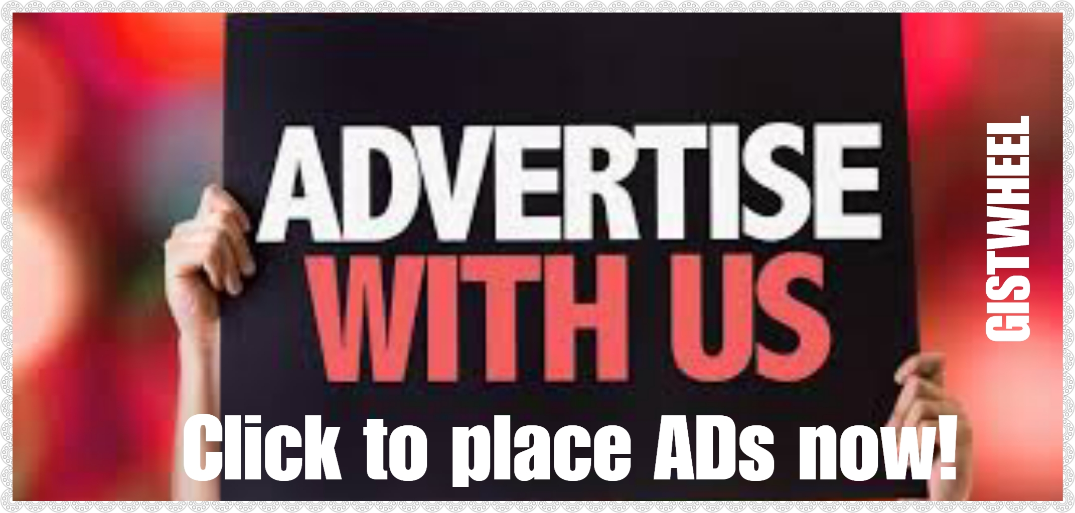 Take Advantage of our traffic, get your business known!