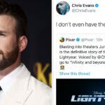 Chris Evans Will Voice Buzz Lightyear In A New Disney Movie And Honestly It's About Time We Got Some Good News In 2020
