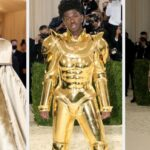 Lil Nas X Showed Off His Glittery Assets On The Beige Carpet Of The Met Gala